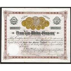 Penn- Yan- Mining- Co. 1887 Issued Stock
