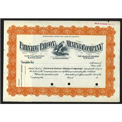 Fairview Falcon Mining Co., ca.1900-1920 Specimen Stock