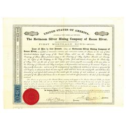 Mettacom Silver Mining Co. of Reese River, 1867 Issued Bond
