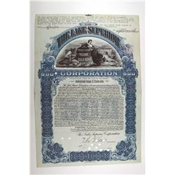 Lake Superior Corp. 1904. Canceled Stock