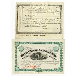 Big Pittsburgh Consolidated Silver Mining Co., ca.1880-1889 Proof Stock