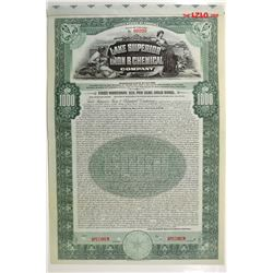 Lake Superior Iron & Chemical Co., 1910 Specimen Bond