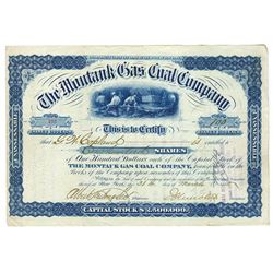 Montauk Gas Coal Co., 1880 Stock Certificate.