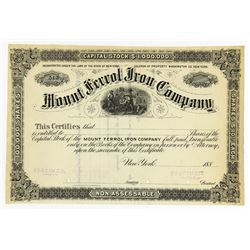 Mount Ferrol Iron Co., ca.1880-1890 Specimen Stock