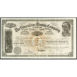 The Yuscaran Mining Co., 1887 Issued Stock