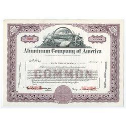 Aluminum Co. of America. Ca.1950-1960 Specimen Stock Certificate