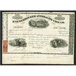Knickerbocker Anthracite Coal Co., 1865 Issued Stock