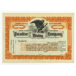 Paradise Mining Co., ca.1940-1950 Specimen Stock