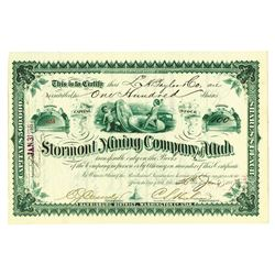 Stormont Mining Co. of Utah, 1887, Issued Stock.
