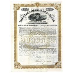 Los Angeles Mining & Smelting Co., 1886 Issued Bond