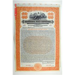 International Match Corp., 1923 Specimen Bond