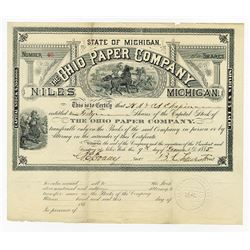 Ohio Paper Co., 1885 Issued Stock