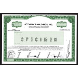 Sotheby's Holdings, Inc., CA.1980-1990 Specimen Stock