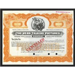 Webb Talking Pictures Co., ca.1913 Specimen Stock