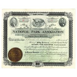National Park Assoc., 1895 Issued Stock Certificate
