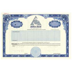 """American Online Inc., 1992 Specimen """"IPO"""" Stock Certificate"""