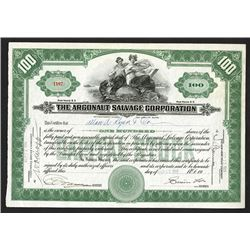 Argonaut Salvage Corp., 1920 Issued Stock