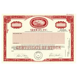 Sippican, Inc., 1985 Specimen Stock Certificate