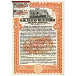 Atlantic, Gulf & West Indies Steamship Lines. 1921 specimen Bond.