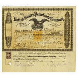 United States Petroleum Co., 1871 Issued Stock
