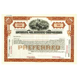 Louisiana Oil Refining Corp., ca.1960-1970 Specimen Stock Certificate