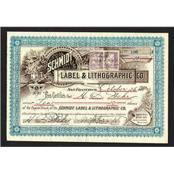 Schmidt Label & Lithographic Co. 1900.