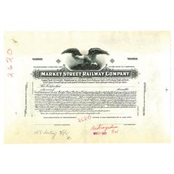Market Street Railway Co., ca.1920-30's (Plate destroyed in 1951) Proof Stock Certificate
