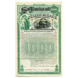 San Francisco and North Pacific Railway Co., 1889 Specimen Bond.