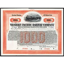 Western Pacific Railway Co., 1908 Specimen Bond