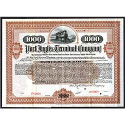 Port Inglis Terminal Co., 1904 Specimen Bond.