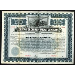 Central of Georgia Railway Co., ca.1900-1910 Specimen Bond