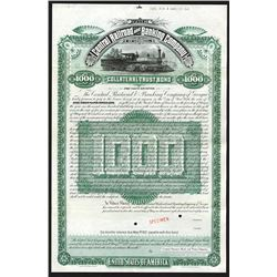 Central Railroad and Banking Co. of Georgia, 1887 Specimen Bond