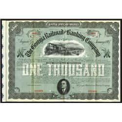 Georgia Railroad and Banking Co., 1907 Specimen Bond
