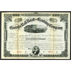 Georgia Railroad and Banking Co., ca.1880-1890 Specimen Bond