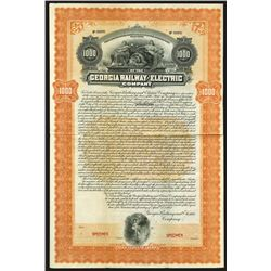Georgia Railway and Electric Co., 1902 Specimen Bond