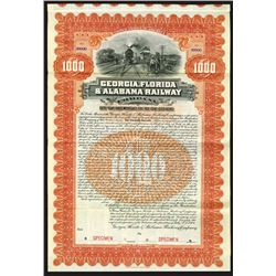 Georgia, Florida & Alabama Railway Co., 1904 Specimen Bond