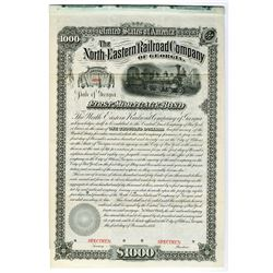 North-Eastern Railroad Co. of Georgia, 1881, Specimen Bond.