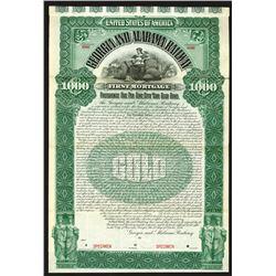 Georgia and Alabama Railway, 1895 Specimen Bond