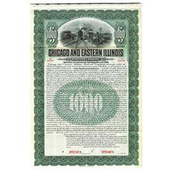 Chicago and Eastern Illinois Railroad Co., 1905 Specimen Bond