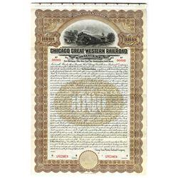 Chicago Great Western Railroad Co., 1909 Specimen Bond