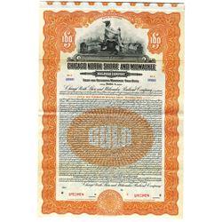 Chicago North Shore and Milwaukee Railroad Co., 1925 Specimen Bond