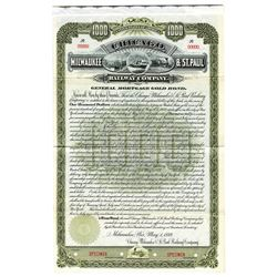 Chicago, Milwaukee & St. Paul Railway Co., 1889 Specimen Bond