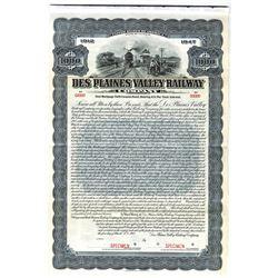 Des Plaines Valley Railway Co., 1912 Specimen Bond