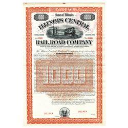Illinois Central Railroad Co., 1892 Specimen Bond
