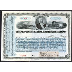 New York Central Railroad Co. ca.1900-1920 Specimen Stock