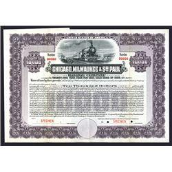 Chicago, Milwaukee & St.Paul Railway Co., 1909 Specimen Bond.