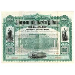 Chicago and Northwestern Railway Co., 1886 Specimen Bond