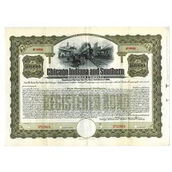 Chicago Indiana and Southern Railroad Co., 1906 Specimen Bond