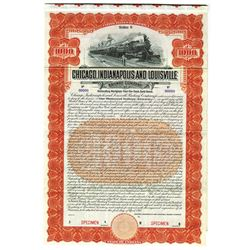 Chicago, Indianapolis and Louisville Railway Co., 1910 Specimen Bond