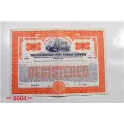 Indianapolis Union Railway Co., 1930 Specimen Bond